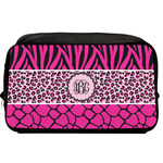 Triple Animal Print Toiletry Bag / Dopp Kit (Personalized)