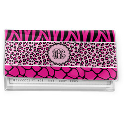 Triple Animal Print Vinyl Check Book Cover (Personalized)