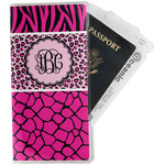 Triple Animal Print Travel Document Holder
