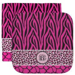 Triple Animal Print Facecloth / Wash Cloth (Personalized)