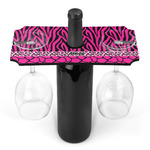 Triple Animal Print Wine Bottle & Glass Holder (Personalized)