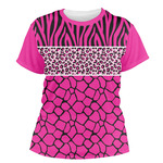Triple Animal Print Women's Crew T-Shirt (Personalized)