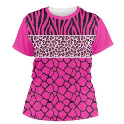 Triple Animal Print Women's Crew T-Shirt (Personalized)