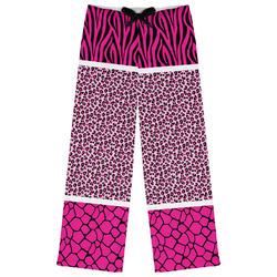 Triple Animal Print Womens Pajama Pants (Personalized)