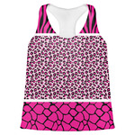Triple Animal Print Womens Racerback Tank Top (Personalized)