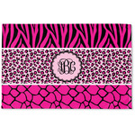Triple Animal Print Woven Mat (Personalized)