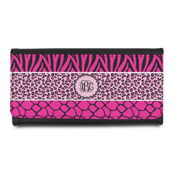 Triple Animal Print Leatherette Ladies Wallet (Personalized)