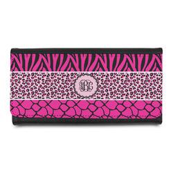 Triple Animal Print Leatherette Ladies Wallet (Personalized)
