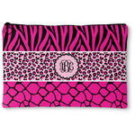 Triple Animal Print Zipper Pouch (Personalized)