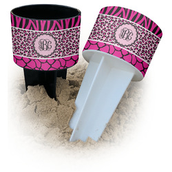 Triple Animal Print Beach Spiker Drink Holder (Personalized)