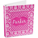 Moroccan & Damask 3-Ring Binder (Personalized)