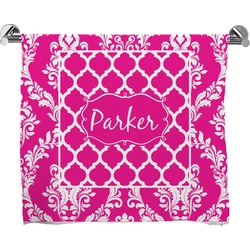 Moroccan & Damask Full Print Bath Towel (Personalized)