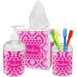 Moroccan & Damask Bathroom Accessories Set (Personalized)