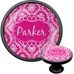 Moroccan & Damask Cabinet Knob (Black) (Personalized)