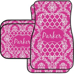 Moroccan & Damask Car Floor Mats (Personalized)