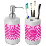 Moroccan & Damask Bathroom Accessories Set (Ceramic) (Personalized)