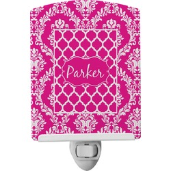 Moroccan & Damask Ceramic Night Light (Personalized)