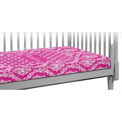 Moroccan & Damask Crib Fitted Sheet (Personalized)