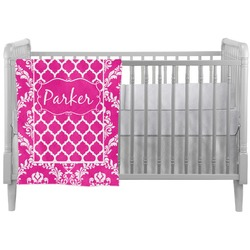 Moroccan & Damask Crib Comforter / Quilt (Personalized)