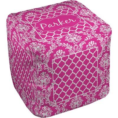 Moroccan & Damask Cube Pouf Ottoman (Personalized)