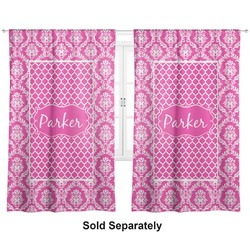 "Moroccan & Damask Curtains - 40""x84"" Panels - Unlined (2 Panels Per Set) (Personalized)"
