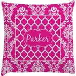 Moroccan & Damask Decorative Pillow Case (Personalized)