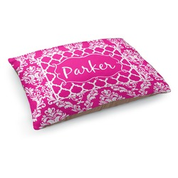 Moroccan & Damask Dog Pillow Bed (Personalized)