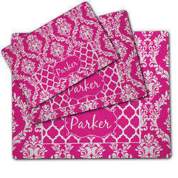Moroccan & Damask Dog Food Mat w/ Name or Text