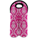 Moroccan & Damask Wine Tote Bag (2 Bottles) (Personalized)