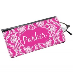 Moroccan & Damask Genuine Leather Eyeglass Case (Personalized)