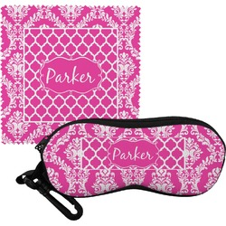 Moroccan & Damask Eyeglass Case & Cloth (Personalized)