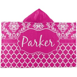 Moroccan & Damask Kids Hooded Towel (Personalized)