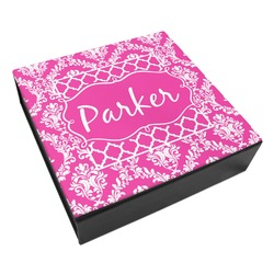 Moroccan & Damask Leatherette Keepsake Box - 3 Sizes (Personalized)