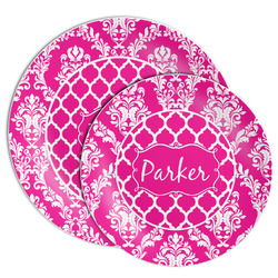 Moroccan & Damask Melamine Plate (Personalized)