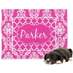 Moroccan & Damask Minky Dog Blanket (Personalized)
