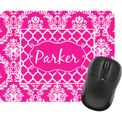 Moroccan & Damask Rectangular Mouse Pad (Personalized)