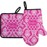 Moroccan & Damask Oven Mitt & Pot Holder (Personalized)