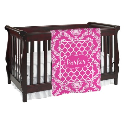 Moroccan & Damask Baby Blanket (Personalized)