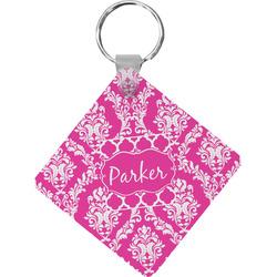 Moroccan & Damask Diamond Key Chain (Personalized)