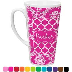 Moroccan & Damask Latte Mug (Personalized)