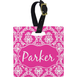 Moroccan & Damask Square Luggage Tag (Personalized)