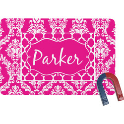Moroccan & Damask Rectangular Fridge Magnet (Personalized)