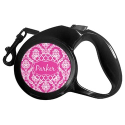 Moroccan & Damask Retractable Dog Leash (Personalized)