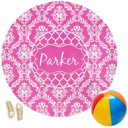 Moroccan & Damask Round Beach Towel (Personalized)