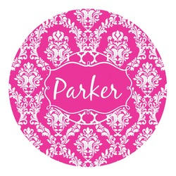 Moroccan & Damask Round Decal - Small (Personalized)