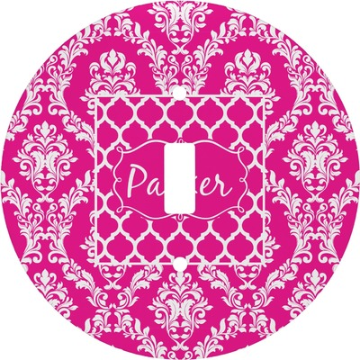 Moroccan & Damask Round Light Switch Cover (Personalized)