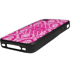 Moroccan & Damask Rubber iPhone Case 4/4S (Personalized)
