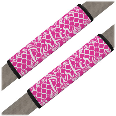 Moroccan & Damask Seat Belt Covers (Set of 2) (Personalized)