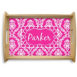 Moroccan & Damask Natural Wooden Tray (Personalized)