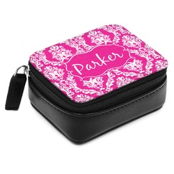 Moroccan & Damask Small Leatherette Travel Pill Case (Personalized)